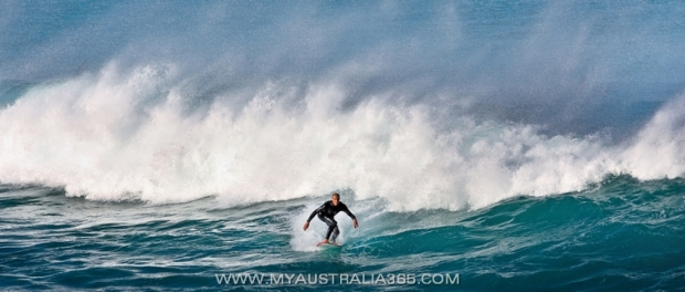 серфинг в Сиднее на пляже Бондай Бич