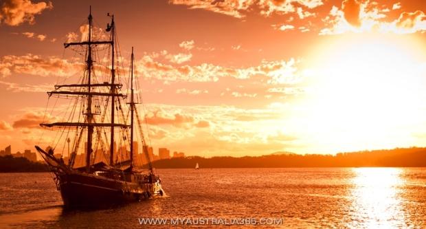 парад парусников на День Австралии