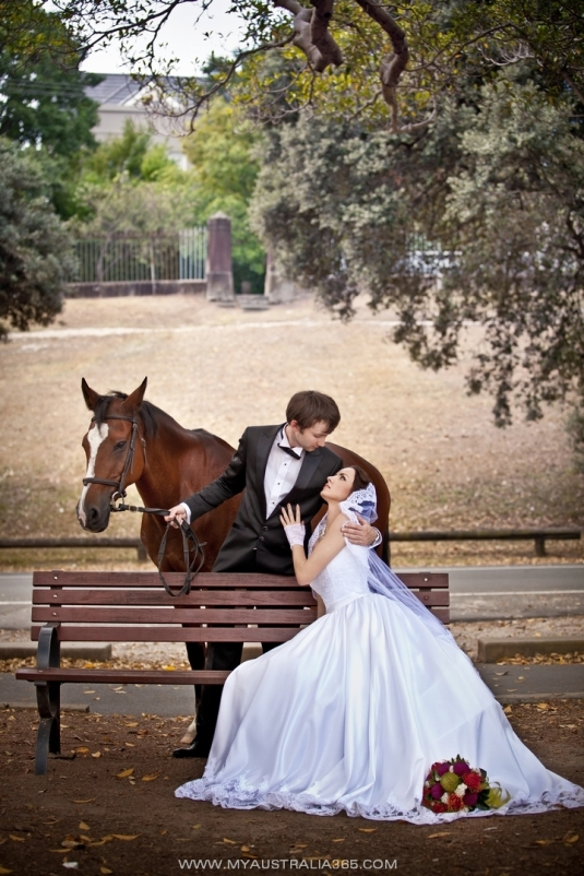 Свадебная фотосессия в Сиднее в Вековом парке