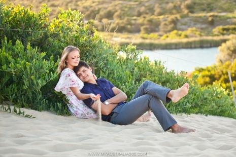 фотосессия влюбленных в Сиднее