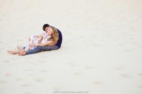 фотосессия в песчаных дюнах в Сиднее