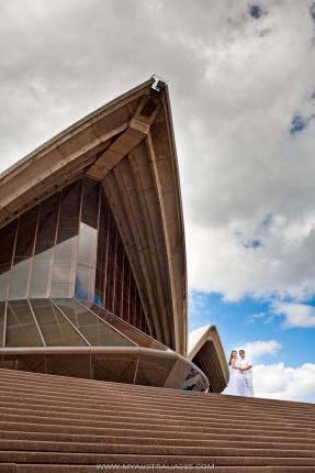 свадебные фотосессии в Сиднее на ступеньках Оперы Хаус