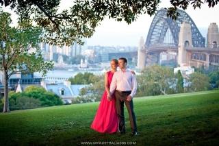 профессиональный фотограф в Сиднее фотосессия у Харбор бридж