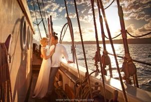 Свадебная фотосессия на паруснике в Сиднее