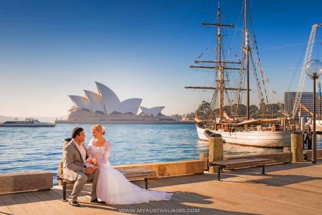 Профессиональные фотосессии в Сиднее рядом с Оперой Хаус