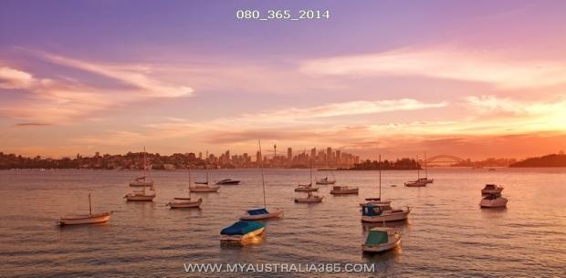Сиднейский залив на закате