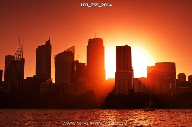 Закат в Сиднее