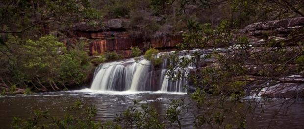 Водопад Winifred Falls в Королевском Национальном парке Royal National Park в Сиднее