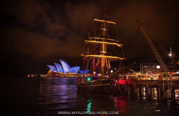 Последний день фестиваля света Vivid Sydney