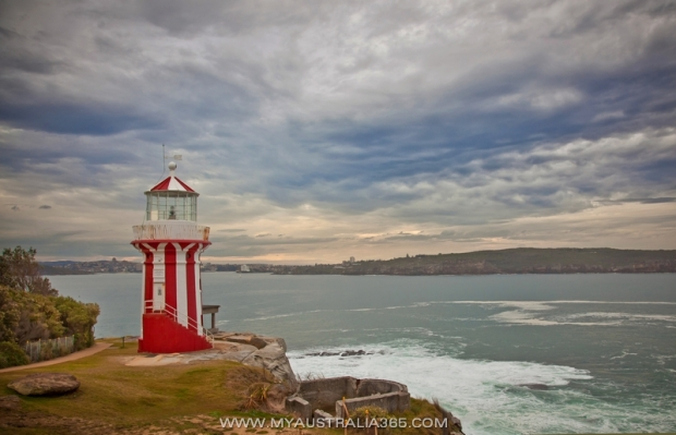 Маяк  Hornsby Lighthouse на мысе Южная голова South Head