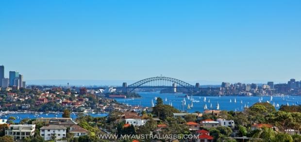 Вид на Харбор Бридж и отличное место для просмотра новогоднего салюта в Сиднее
