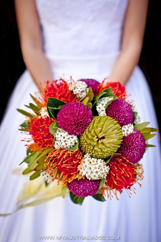 Австралийский букет невесты из австралийских растений-аборигенов