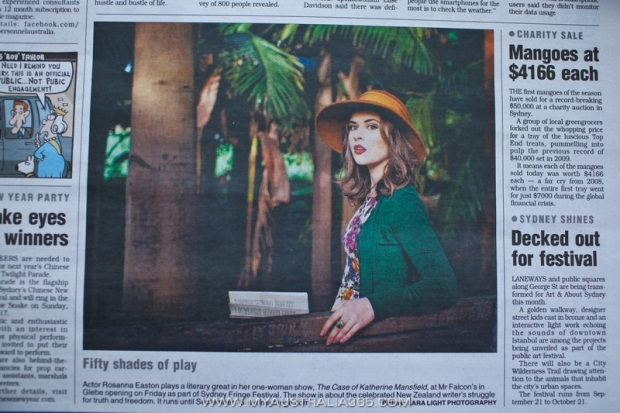 Моя фотография в сиднейской газете Mx