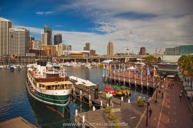 Туристическое место Darling Harbour в Сиднее