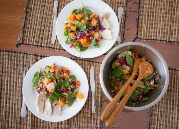 Австралийский тыквенный салат на Хеллоувин