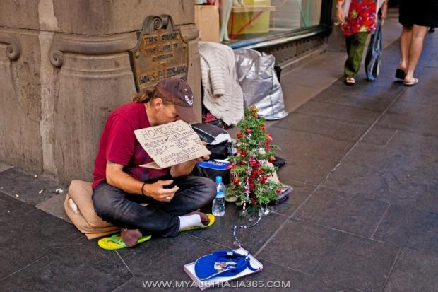 Попрошайки на улицах Сиднея