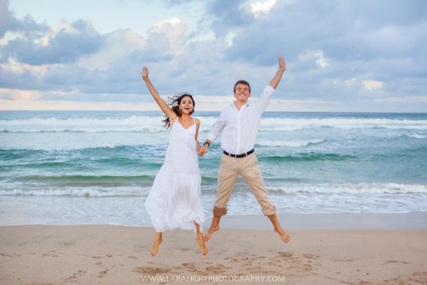 тропическая фотосессия на пляже в Сиднее